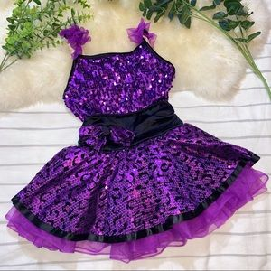 WEISSMAN Purple Sequin Costume Dress - MC